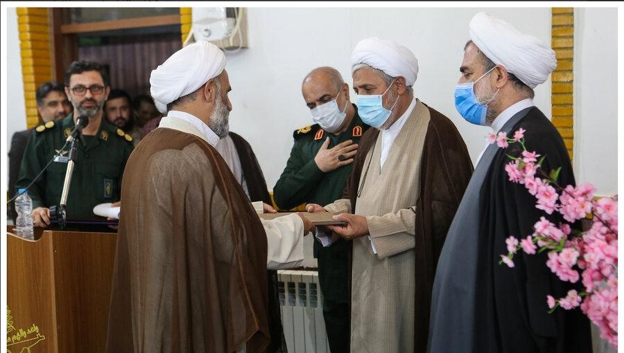 مراسم تکریم و معارفه مسئول دفتر نمایندگی ولیفقیه در سپاه قدس گیلان