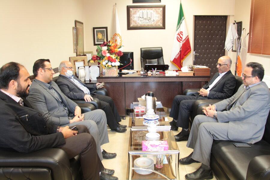 دیدار مدیرکل کتابخانه های عمومی استان با مدیرکل بهزیستی
