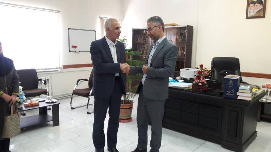 شاهرود | دیدار معاون مدیرکل و رئیس اداره بهزیستی با دادستان عمومی و انقلاب شهرستان