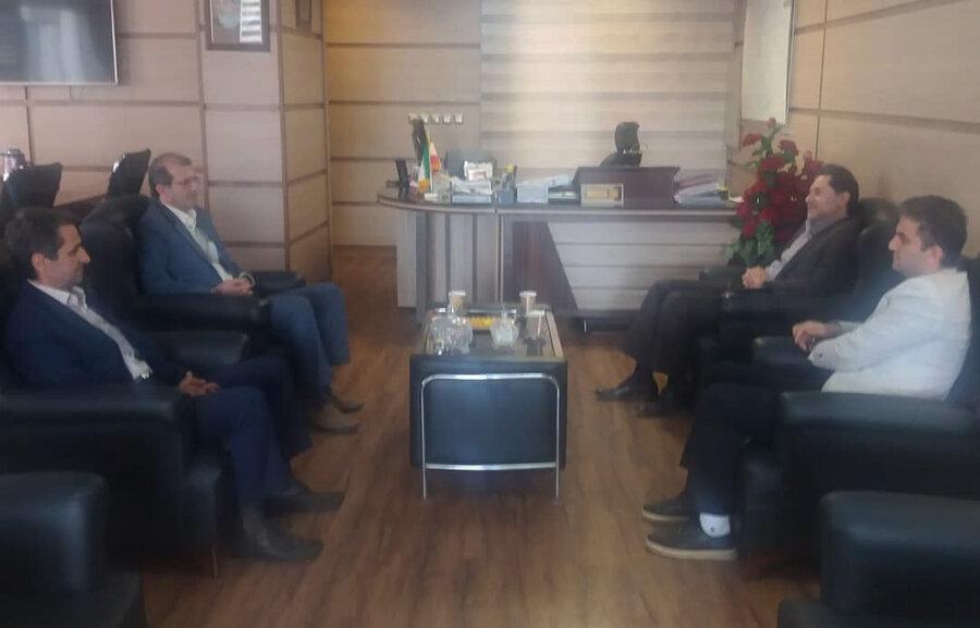 نشست دکتر حسین نحوی نژاد با معاون نظارت مالی ورییس خزانه معین دارایی استان گیلان