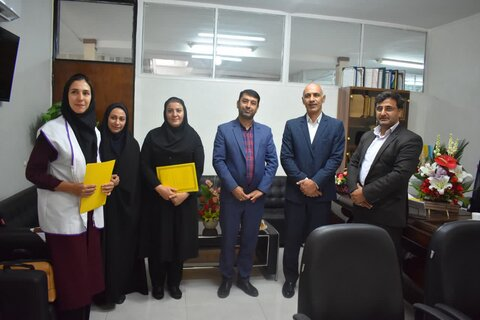 شاهرود | دیدار معاون مدیرکل و رئیس اداره بهزیستی شهرستان با رئیس اداره آموزش و پرورش