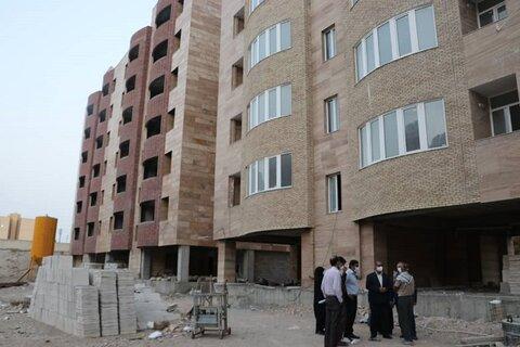 بندرعباس   بازدید مسئولین از پروژه ۸۴ واحدی مسکن مددجویان بهزیستی بندرعباس