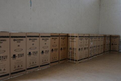 توزیع ۱۳۷۰ دستگاه یخچال اهدائی بانک ملت به مددجویان آسیب دیده از سیل استان سیستان و بلوچستان