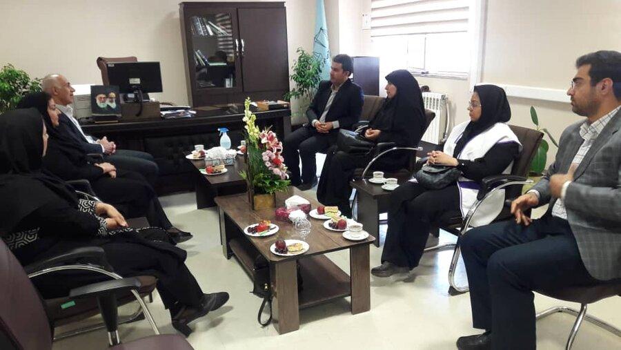 شاهرود   دیدار معاون مدیرکل و رئیس اداره بهزیستی شهرستان شاهرود با رئیس دادگستری شهرستان