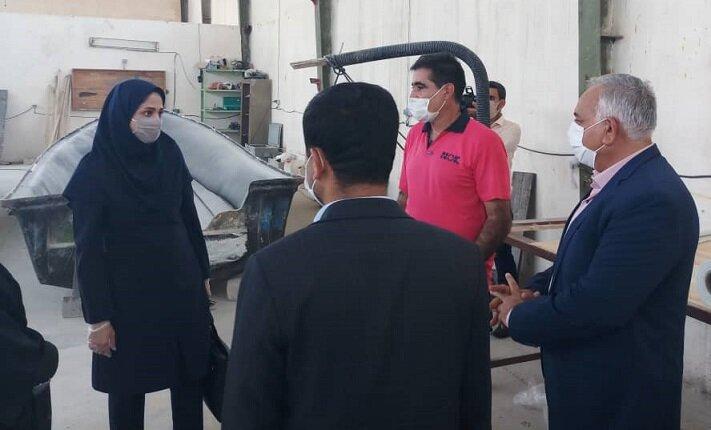 بازدید از فعالیت کارگاه های اشتغال معتادین متجاهر  در بندرعباس
