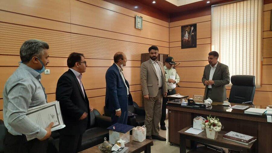 فردیس | دیدار رئیس بهزیستی با مسئولین دستگاه قضا شهرستان فردیس
