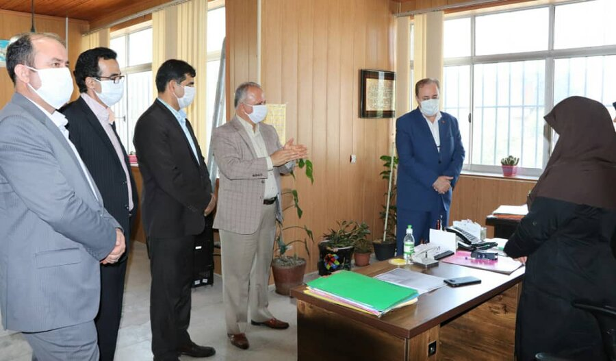گزارش تصویری| بازدید مدیر کل بهزیستی مازندران از اداره بهزیستی شهرستان محمودآباد