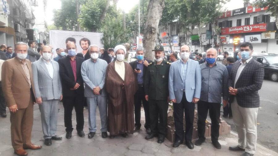 محل شهادت تنها استاندار شهید کشور گلباران شد