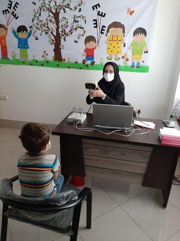 گزارش تصویری |  اجرای طرح سنجش بینایی کودکان