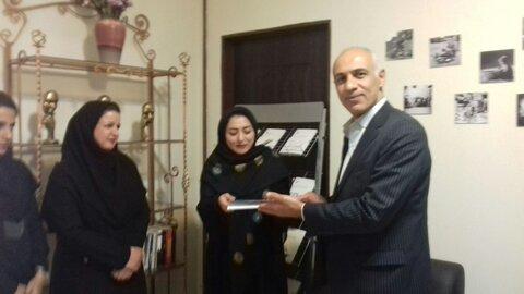 شاهرود | تقدیر از مدیرعامل موسسه خیریه ندای سلامت روان خانواده