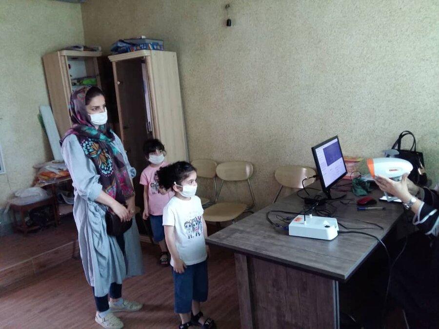 گزارش تصویری| اجرای طرح پیشگیری از تنبلی چشم کودکان 3 تا 6  سال در شهرستان های چالوس و تنکابن