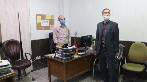 گزارش تصویری : حضور مدیر کل بهزیستی استان قم در محل کار پرسنل و تبریک هفته بهزیستی