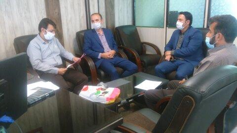 کبودراهنگ| حضور رئیس بانک رفاه کارگران در بهزیستی به مناسبت هفته بهزیستی