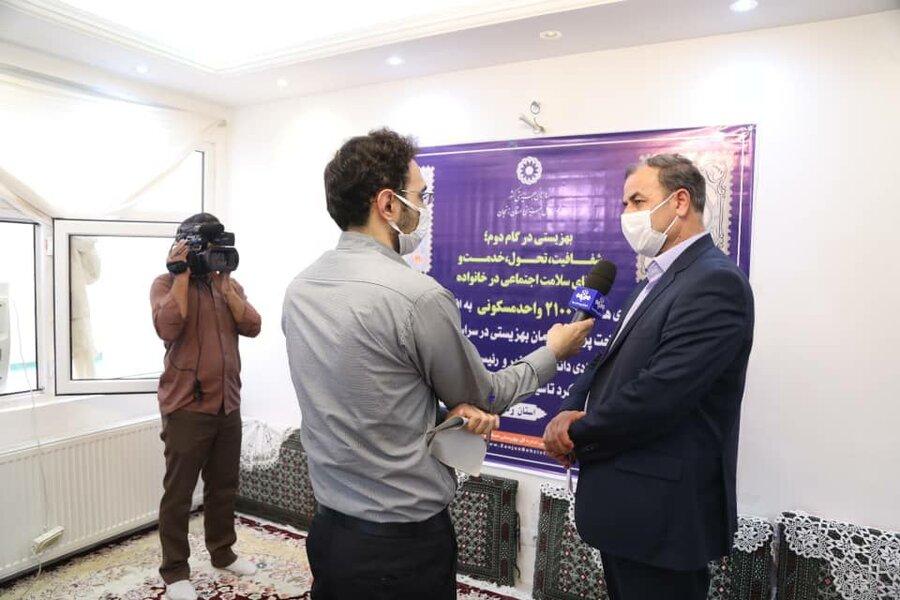در دومین روز هفته بهزیستی  | 15 واحد مسکن مددجویی  زنجان همزمان با سراسر کشور افتتاح شد
