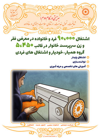 پوسترهای هفته بهزیستی- اشتغال زنان سرپرست خانوار