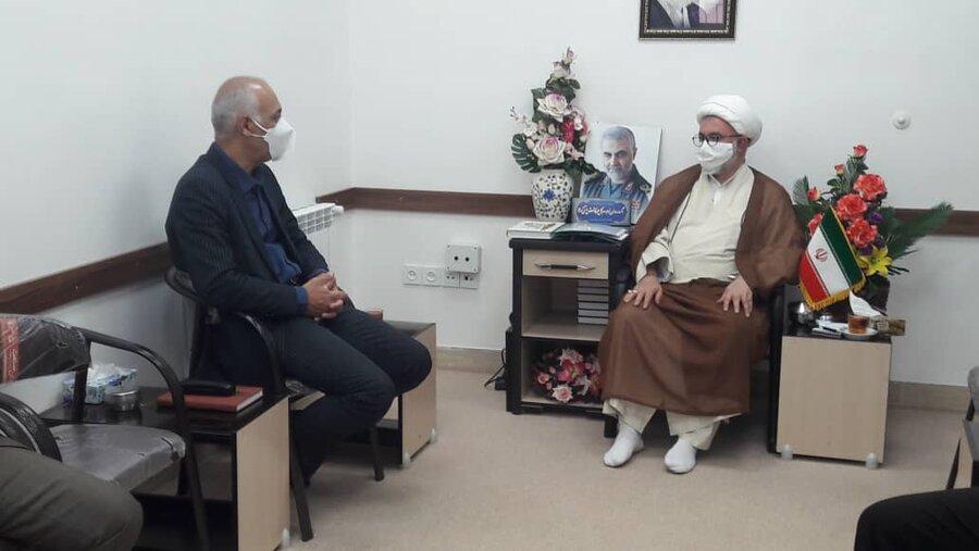 شاهرود   دیداره جمعی از کارکنان اداره بهزیستی شهرستان شاهرود با امام جمعه به مناسبت هفته بهزیستی