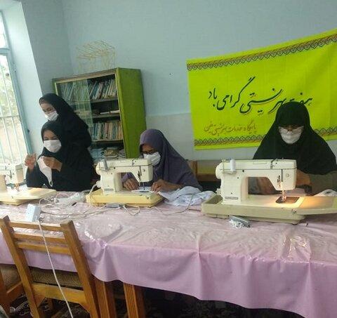 بندرعباس | افتتاح کارگاه تولید ماسک در بهزیستی فین