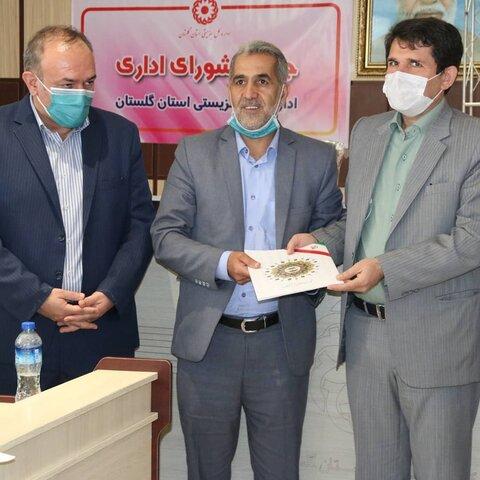 حضور اعضاء شورای اسلامی شهر گرگان در اداره کل بهزیستی گلستان بمنظور تبریک هفته بهزیستی