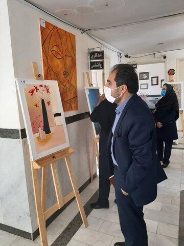 برگزاری نمایشگاه  نقاشی با ۴۰ اثر به مناسبت چهلمین سالگرد تاسیس سازمان بهزیستی در زرند