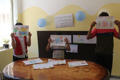 گزارش تصویری/ مسابقه نقاشی ویژه کودکان کار و خیابان در ایلام
