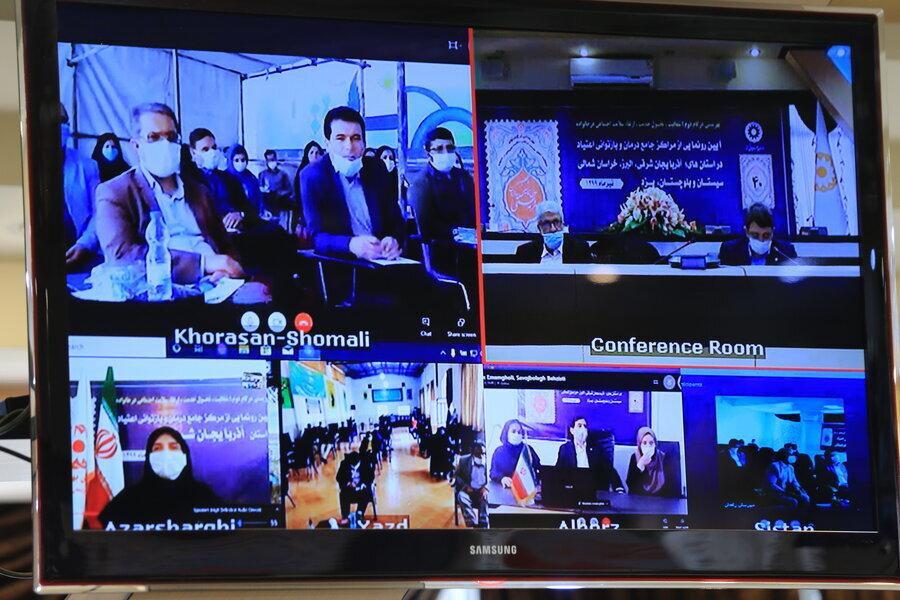 گزارش تصویری   آیین رونمایی از مراکز جامع درمان و بازتوانی اعتیاد دراستان البرز و همزمان ۴ استان دیگر کشور برگزار شد