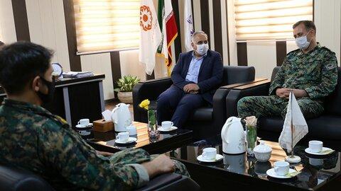دیدار فرماندهی یگان ویژه نیروی انتظامی استان هرمزگان با مدیر کل بهزیستی استان