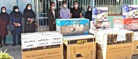 شهرستان همدان| توزیع لوازم خانگی و بسته غذائی به مناسبت هفته بهزیستی