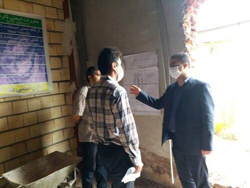 گزارش تصویری بازدید آقای پاشازاده معاون پشتیبانی بهزیستی استان از روند پیشرفت کار ساختمان مرکز ماده ۱۶ بانوان