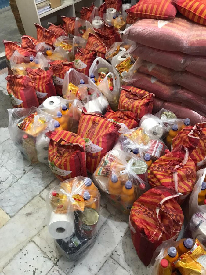 فردیس| توزیع سبد کالا بین مددجویان شهرستان فردیس