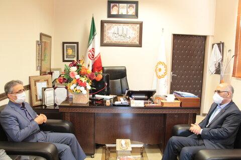 دیدار مدیرکل دفتر امور اجتماعی و فرهنگی استانداری با مدیرکل بهزیستی استان