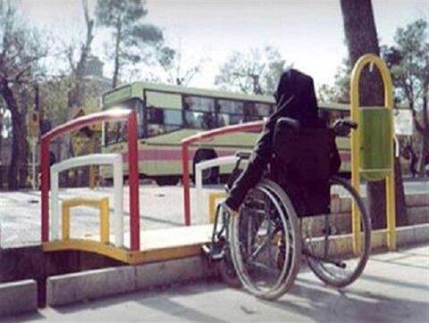 خیابان پایلوت بجنورد در دست مناسب سازی برای عبور و مرور معلولان