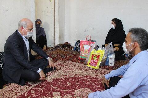 گزارش تصویری| بازدیددکتر حاجیونی از منازل سه خانواده تحت پوشش سازمان