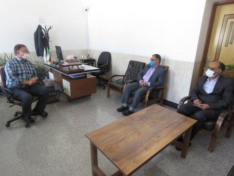 لنجان| دیدار فرماندار با رئیس و پرسنل بهزیستی لنجان