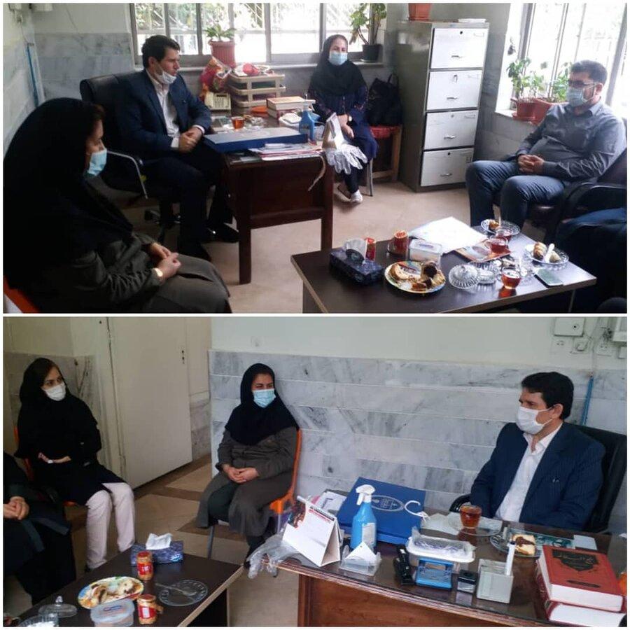 دیدار دکتر غفاری مدیرکل بهزیستی گلستان با کارکنان شاغل در واحد فیزیوتراپی به مناسبت روز فیزیوتراپ