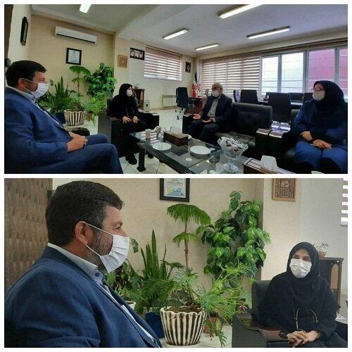 دیدار فرمانده حوزه ۳ بسیج کارمندی شهید دستغیب تبریز با مدیرکل بهزیستی آذربایجان شرقی