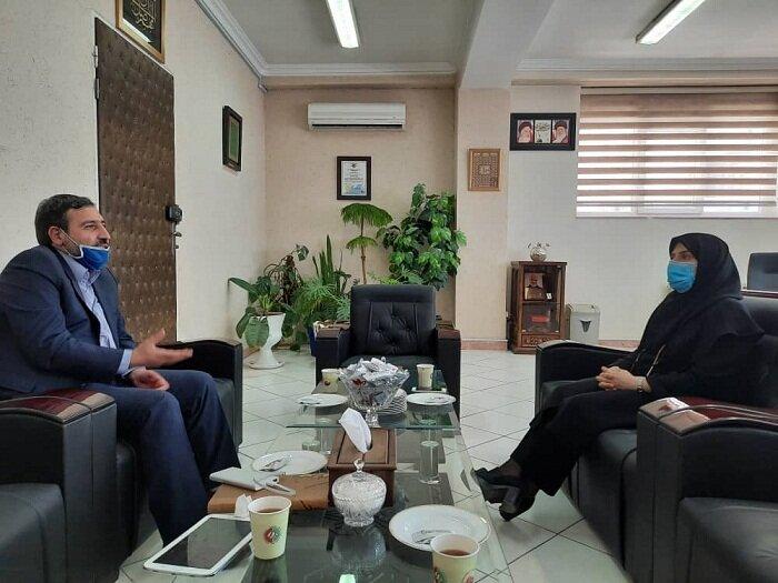 دیدار و گفتگوی نماینده مردم شریف ملکان  در مجلس شورای اسلامی با مدیرکل بهزیستی آذربایجان شرقی