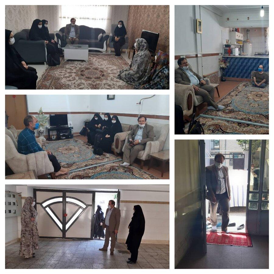 ساوجبلاغ | دیدار رئیس بهزیستی ساوجبلاغ با مددجویان سادات تحت پوشش حوزه توانبخشی و اجتماعی