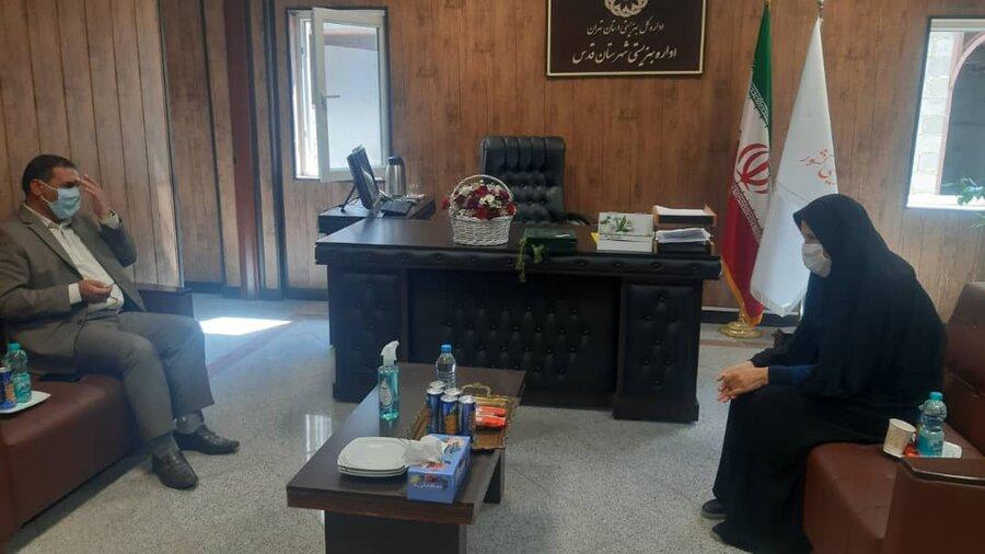 تقدیر ریس شورای اسلامی شهر قدس از کارکنان بهزیستی