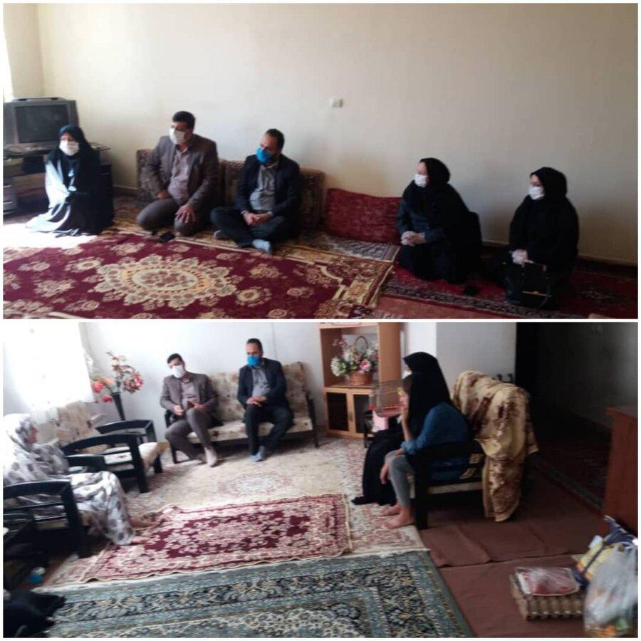 نظرآباد |دیدار رئیس بهزیستی نظرآباد با مددجویان سادات تحت پوشش حوزه اجتماعی و توانبخشی