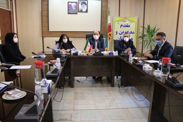 حضور مدیرکل بهزیستی استان اصفهان و مشاور وی در شهرستان فریدونشهر