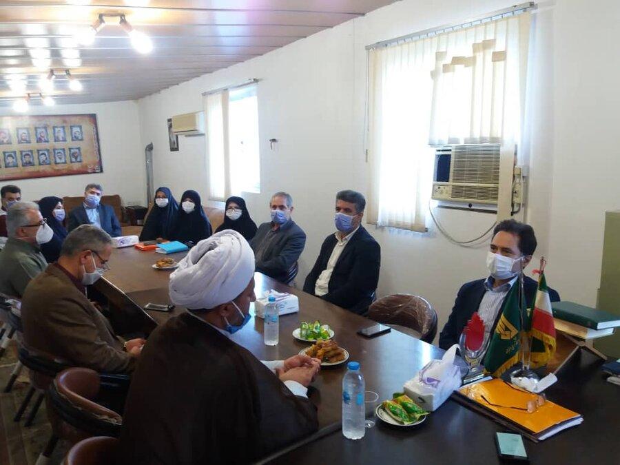 دیدار مدیر کل بهزیستی گیلان با امام جمعه شهرستان فومن به مناسبت عید سعید غدیر