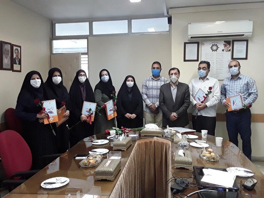 تجلیل از سادات شاغل در بهزیستی استان