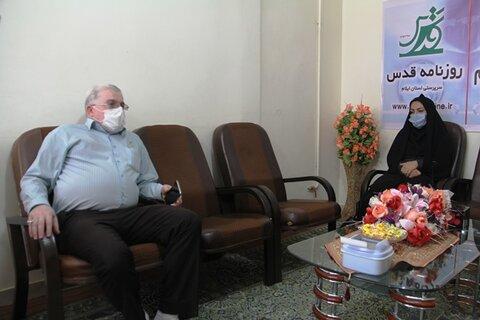 گزارش تصویری/ بازدید مدیر کل بهزیستی ایلام از رسانه ها به مناسبت روز خبرنگار