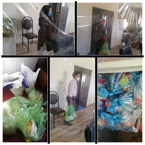 ساوجبلاغ   توزیع بسته های مواد غذایی بین مددجویان بهزیستی شهرستان