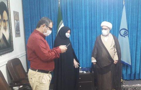 اشتهارد   دیدار رئیس بهزیستی اشتهارد با امام جمعه شهرستان