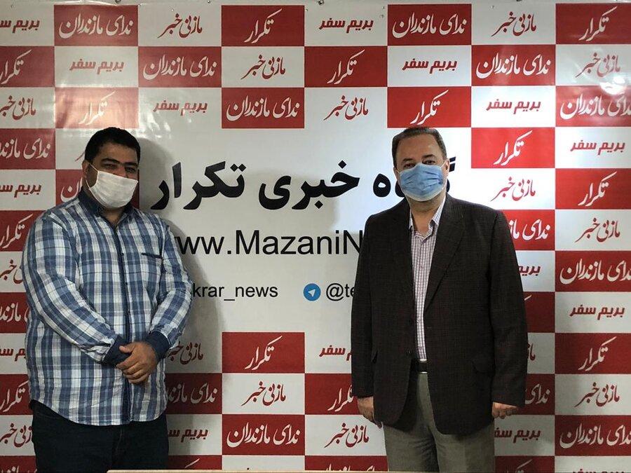 حضور مدیر کل بهزیستی مازندران در دفتر گروه خبری تکرار به مناسبت روز خبرنگار
