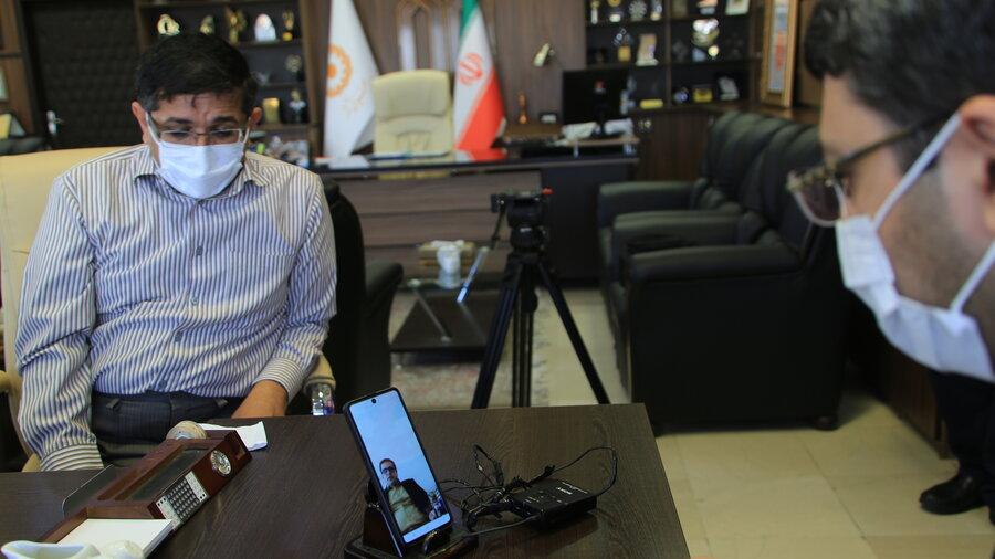 ارتباط مجازی رئیس سازمان بهزیستی کشور با مددجویان تحت حمایت با هدف بررسی مشکلات ایشان در ایام کرونا