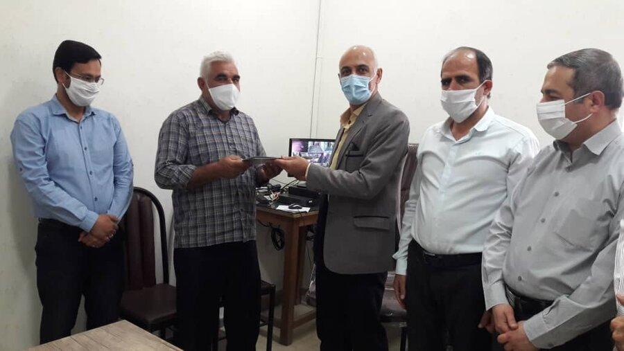 شاهرود   تجلیل از همکار آزاده سرافراز در بهزیستی شهرستان