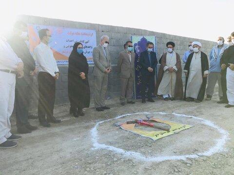 گزارش تصویری آیین کلنگ زنی و ساخت سه واحد مسکونی ویژه مددجویان در شهرستان دیر