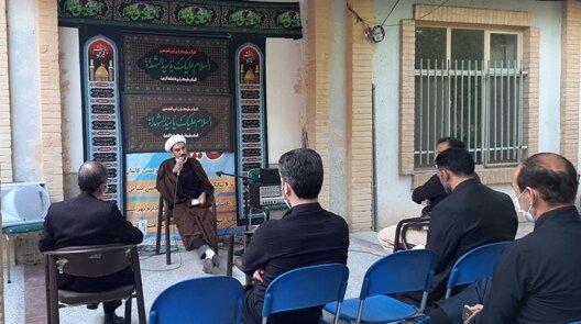 کاشان| برگزاری مراسم عزاداری امام حسین (علیه السلام) در اداره بهزیستی